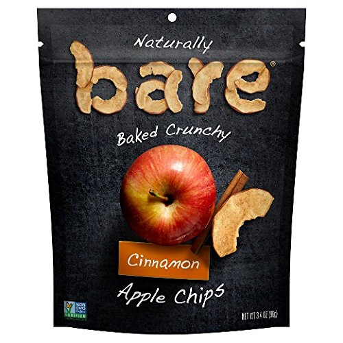 Bare Baked Crunchy (Pack of 2) (Apple Chips - Cinnamon, 3.4 oz.(96 grams))