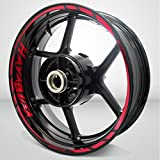 Suzuki Hayabusa Reflective Red Motorcycle Rim Wheel Decal Accessory Sticker