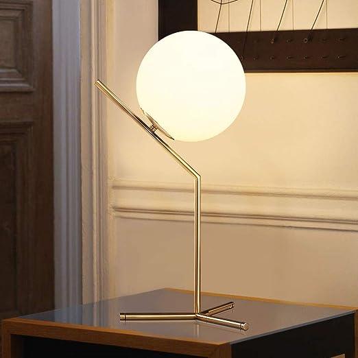 Table Métal Lampe DécorationRonde En Cadre Détachable Balle De ygb67f