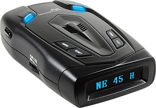 Whistler RD\50x Radar Detector with Blue OLED Text Display & Digital Compass, Black