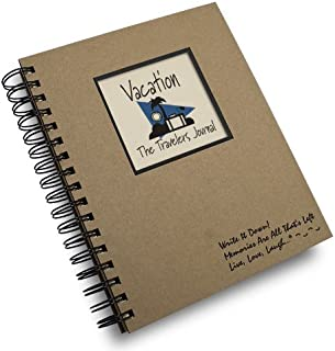 product image for Vacation, The Traveler's Journal - Kraft Hard Cover (prompts on every page, recycled paper)