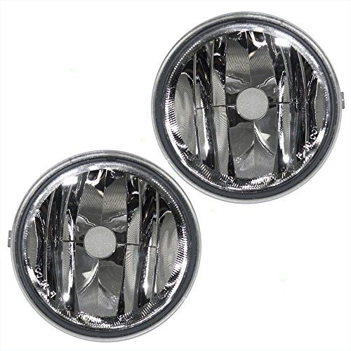 Driver and Passenger Fog Lights Round Lamps Replacement for Ford Lincoln Pickup Truck AL3Z15201A AL3Z15200A
