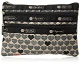 LeSportsac Classic 3 Zip Cosmetic Case, Stop for Love