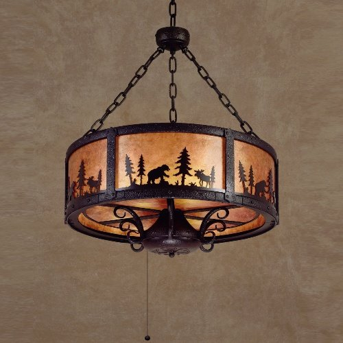 Casablanca 8604-89 Wilderness Collection Pendant / Chandelier Textured Matte Black