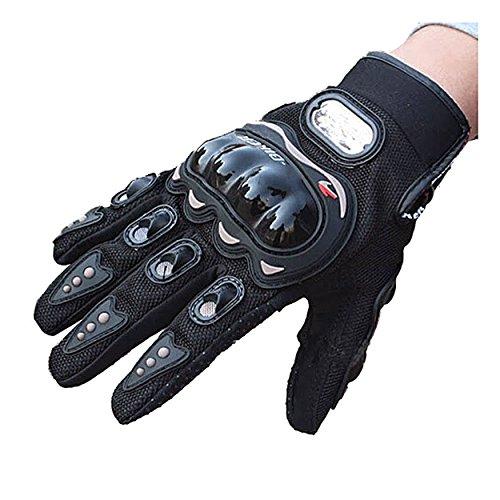 Evaliana Men's Motocross Cycling Motorcycle Motorbike Riding Racing Gloves Full Finger  Black  Large