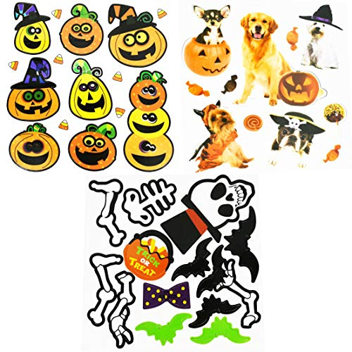 Set of 3 Halloween Jumbo Magnet Sets! Refrigerator Magnets for Halloween Decoration! (Set of All Themes, 3)]()