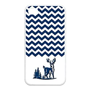 Fashion Series Popular colorful chevron waves with browning buck and doe longly deer logo Hipster Iphone 6 Plus or 6 PlusS Plus Case Including Dust Plug