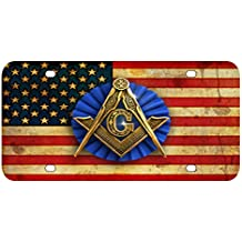 L276 FREEMASON FLAG License Plate Front Custom Novelty Tag Vanity Frame Holder Wrap Wraps