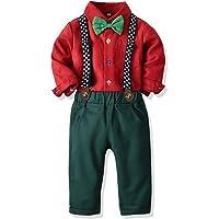 Yokald Ropa Bebe Conjunto Niño Traje de Vestir Conjuntos de Otoño e Invierno Camisa de Manga Larga Pantalón + Pajarita…