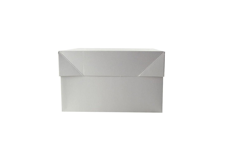 Standard White Cake Box 12 x 12 x 6 and 12 Round Drum