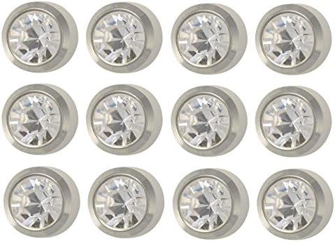 Caflon Ear Piercing Bezel Earrings Studs Min Assorted Colors White Metal 12 Pair