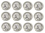 Caflon Ear Piercing Bezel Earrings Studs 4mm April C/Z White Metal 144 Pair
