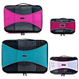 PRO Packing Cubes  Lightweight Travel - Packing for Carry-on Luggage, Suitcase and Backpacking Accessories Set, Mixed Colors #3 - 4 Piece