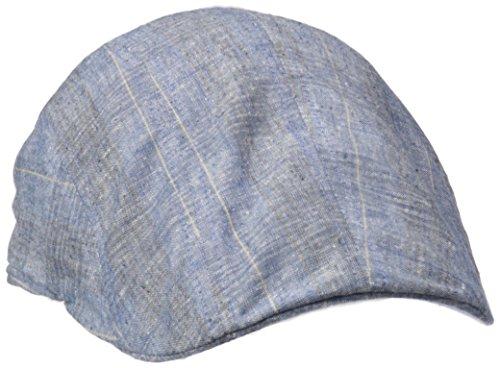 Henschel Men's 100% Cotton Plaid New Shape Driver Hat, Blue, Medium (Drivers Plaid Cap)