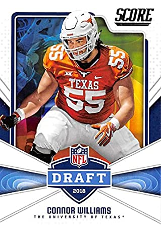 2018 Score NFL Draft 10 Connor Williams Texas Longhorns Football Card
