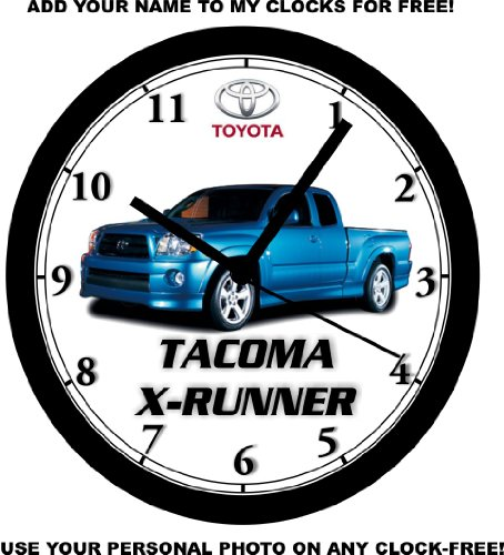 - TOYOTA TACOMA X-RUNNER PICKUP TRUCK WALL CLOCK-NEW!- FREE USA SHIP!
