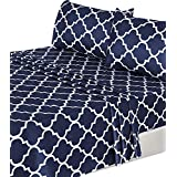 Utopia Bedding 3-Piece Bed Sheet Set (Twin, Navy) - 1 Flat