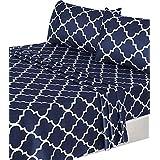 Utopia Bedding 3-Piece Bed Sheet Set (Twin, Navy) - 1 Flat