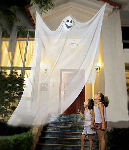 Halloween Decorations To (Partypeople Halloween Hanging Ghost Decorations Spooky Skeleton Prop White)