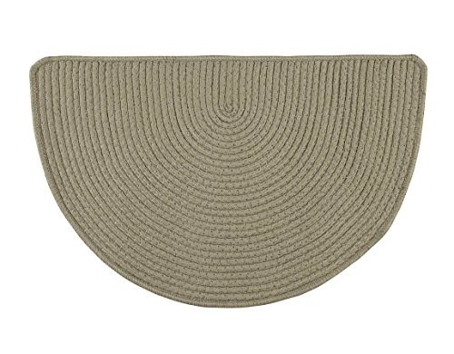 Fox Valley Traders Solid Non-Slip Braided Slice Rug by OakRidgeTM