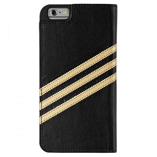 adidas 009201 Original Booklet Case für Apple iPhone 6/6S Plus schwarz/gold