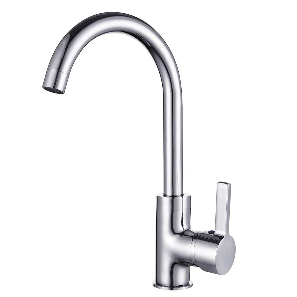 Tianch Kitchen Faucet, 360 Degree Rotating Sink Faucet, One-Handle Kitchen Faucet, Adjustable Hot and Cold Faucet