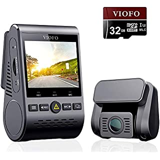 Discount VIOFO A129 Duo Dash Cam Dual Camera Front and Rear Full HD 1080P Wi-Fi Sony STARVIS Sensor Super Night Vision 24H Parking Monitor G-Sensor Loop Recording Mobile APP GPS and 32GB SD Card Included