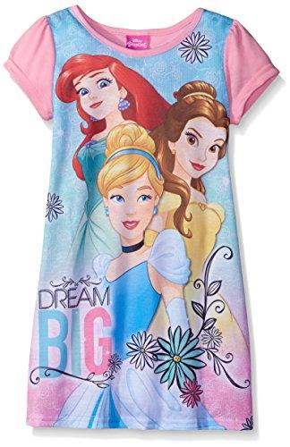 Disney Girls Princesses Always Dream Big Nightgown, Pink, 8 ()