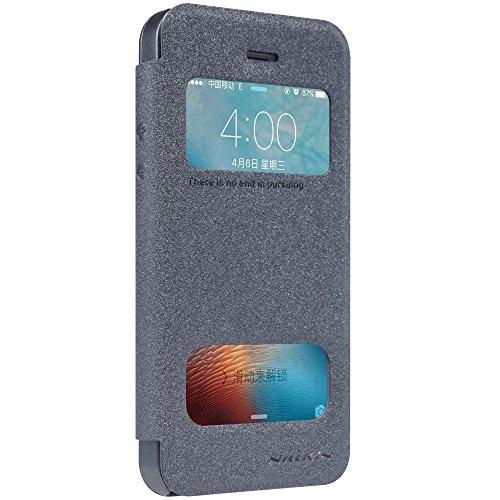 Meimeiwu Hohe Qualität Flip Up Leder Tasche Hülle - Handytasche Schale für Apple iPhone 5S iPhone SE - Schwarz