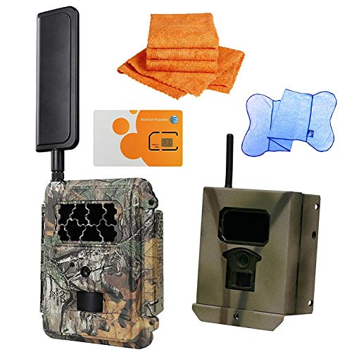 HCO outdoors Spartan GoCam with Security Box Bundled with UTowels Edgeless Microfiber Towels (AT&T 4G/LTE, Blackout Infrared) Model#GC-A4Gb