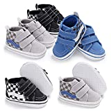 Baby Girls Boys Canvas Sneakers Soft Sole