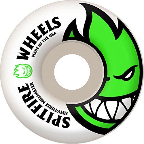 Spitfire Bighead 53mm White W Green Skate Wheels