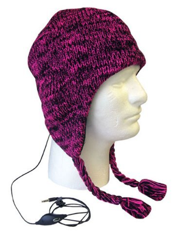 boss-tech-products-inc-btp-hat-blkpnk-aviator-style-knit-hat-with-earflaps-and-built-in-stereo-heads