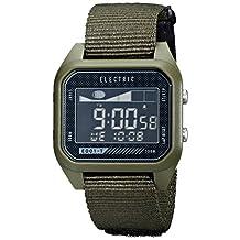 Electric Men's EW0120020031 ED01 Tide Nato Band Digital Display Japanese Quartz Green Watch