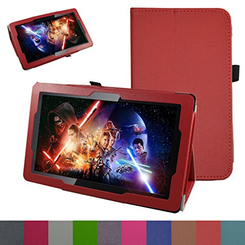 10.6 Fusion5 108 Octa Case,Mama Mouth PU Leather Folio 2-Folding Stand Cover for 10.6 Fusion5 108 Octa Core Android 5.1 Lollipop Tablet PC,Red