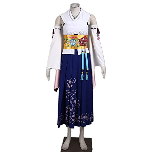 sumiaki final fantasy x yuna yunie cosplay costume halloween costume wig can add female s