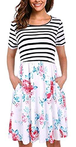 O donne Coolred Modellato size Vestito Magre collo Midi Plus Sexy Bicchierino manicotto Pattern3 Bw8qCwxU