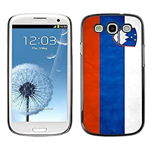 Shell-Star ( National Flag Series-Slovenia ) Snap On Hard Protective Case For Samsung Galaxy S3 III / i9300 i717
