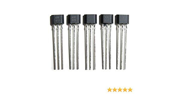 5 x Sensor de efecto Hall Ratiometric lineales 49E SS49E eléctrica ...