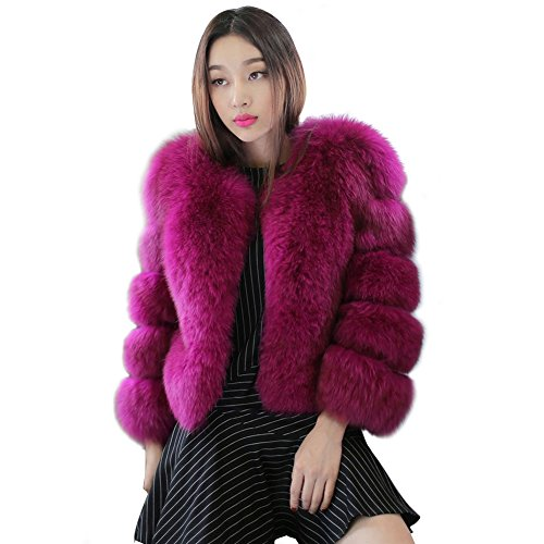 [Fhillinuo Faux Fur Patch Work Coat Jacket For Women] (Chinchilla Fur Coat)