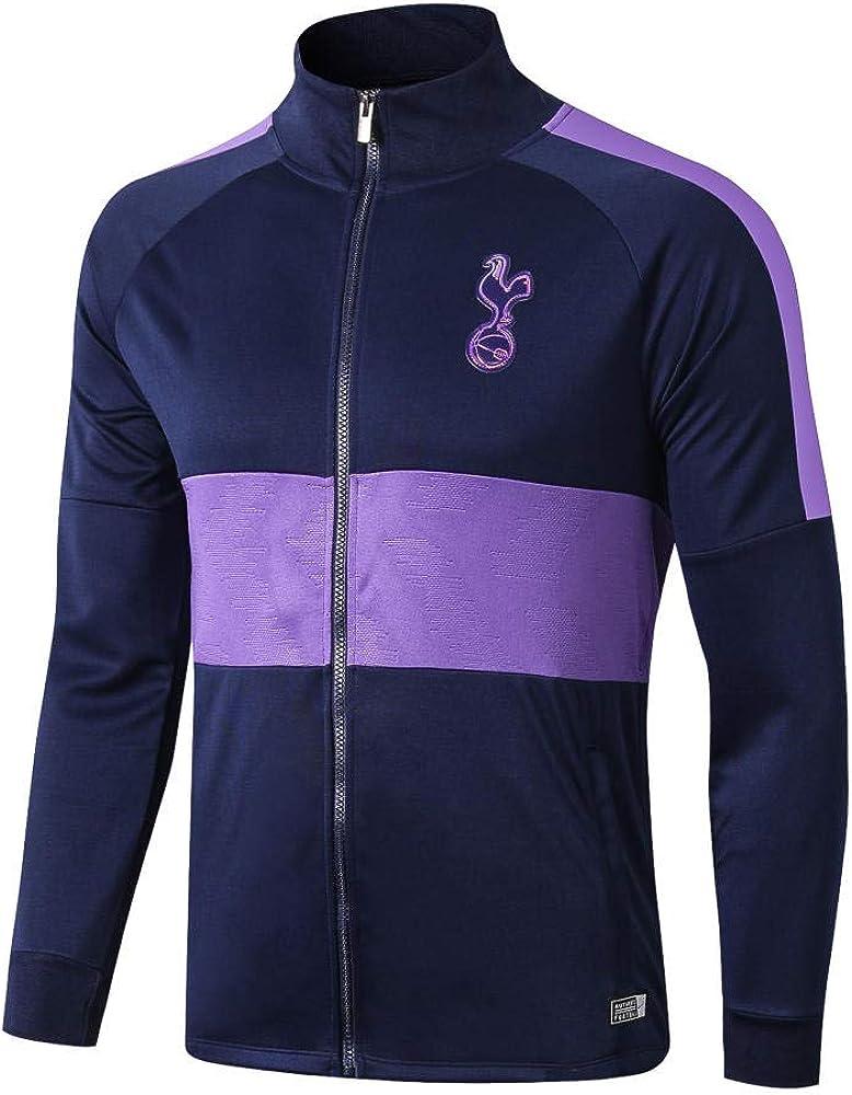 IEKYSYR Club 1819 Tottenham Violet Surv/êtement de Football Complet Zip Manches Longues Ensemble /Équipe Uniforme Comp/étition Costume