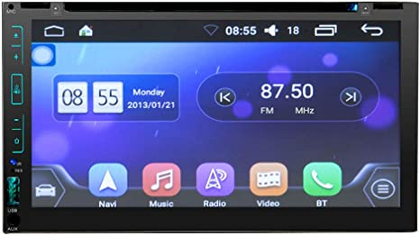 Y&Jack - Pantalla capacitiva para Coche Android de 12 V, Reproductor de DVD de navegación de 6.95 Pulgadas, navegador GPS de Coche, una máquina, Radio WiFi Bluetooth + micrófono Externo: Amazon.es: Deportes