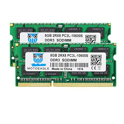 Motoeagle DDR3 1333 PC3 10600S 16GB Kit (2X 8GB) DDR3 1333MHz PC3-10600 204-pin SODIMM 1.35V Laptop Memory (Ddr3 1333mhz Laptop)