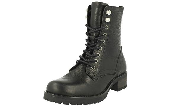 BULLBOXER Damen Schnürstiefelette 797500E6L,Frauen Stiefel,Chukka Boot,Halbstiefel,Schnürboots,Bootie,Reißverschluss