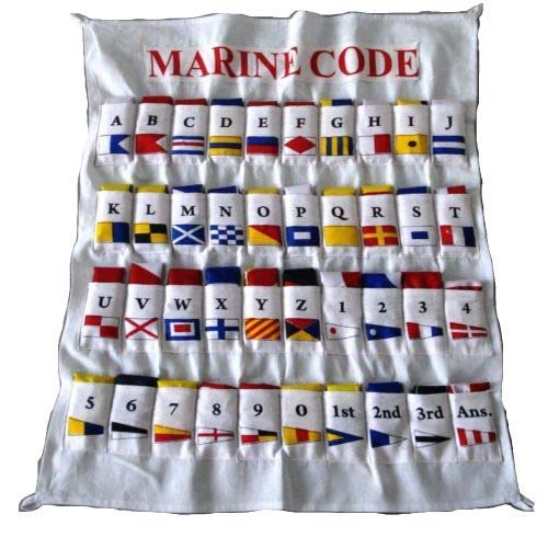 Marine Maritime Signal Flags/Flag Set - Set of 40 Flag with CASE Cover - Nautical/Maritime Boat/Ship / Vessel/Nautical Décor -