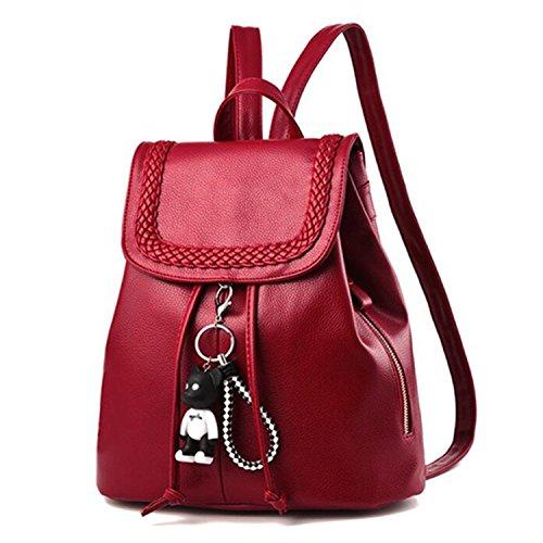 QIHUOKEJU Fashion Women Backpacks Girls Cute Backpack Lady Shoulder Bags School ()