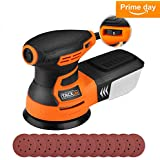 """5"""" Random Orbit Sander with 12Pcs Sandpaper, Tacklife 6 Variable Speed 3.0A/350W/13000 OPM Orbital Sander with High Performance Dust Collection System, Ideal for the DIY and Home Decoration - PRS01A"""
