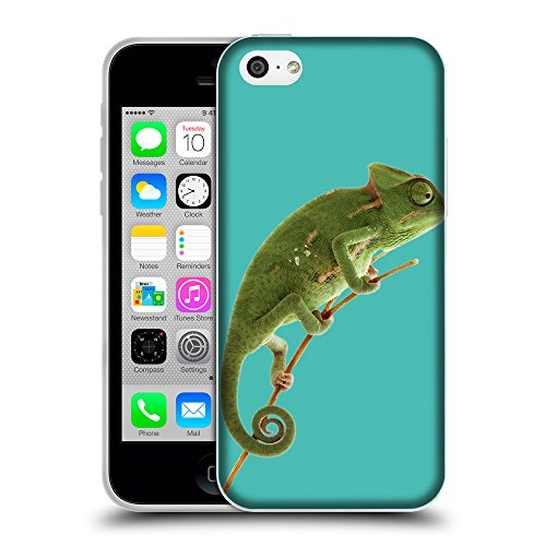 GoGoMobile Coque de Protection TPU Silicone Case pour // Q05680634 caméléon Turchese // Apple iPhone 5C