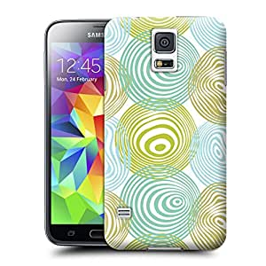 BY SHICASE Premium Samsung Galaxy s5 Case - Protective Skin - High Quality With Colorful Circle Pattern Painting