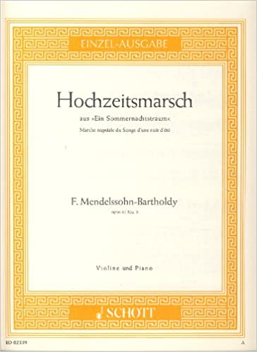 Book MENDELSSOHN - Marcha Nupcial Op.61 nº 9 para Violin y Piano